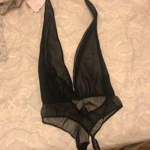 Victoria's Secret. Black Halter Throng teddy